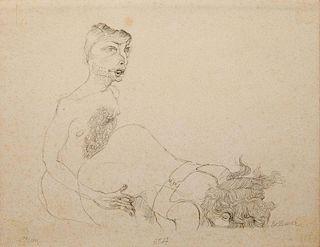 Hans Bellmer (1920-1975): Untitled (Two Figures)