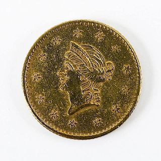 1854 Type I $1.00 Liberty Head Gold Piece