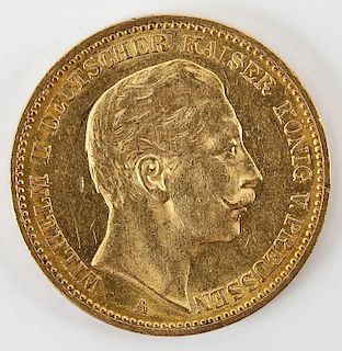 1897A Prussia 20 Mark Gold Piece