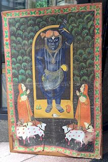 LARGE INDIAN OLD PAINTING