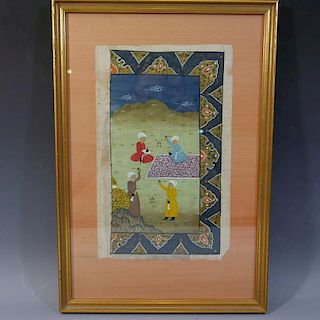 ANTIQUE INDIAN MUGHAL PAINTING 18/19TH CENTURY
