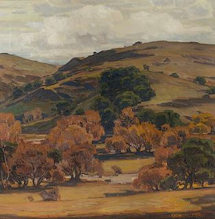* William Wendt, (American, 1865-1946), California Brown Hill Scene, 1922