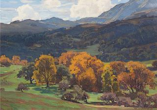William Wendt, (American, 1865-1946), California Landscape, 1926