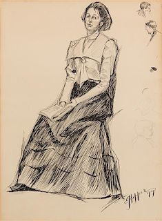 Edward Hopper, (American, 1882-1967), The Artist's Sister, 1899