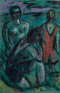 Max Beckmann, (German, 1884-1950), Bathers, 1938