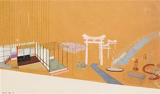 Laszlo Moholy-Nagy, (American, 1895-1946), Madame Butterfly (Stage setting for Berlin State Opera), 1929