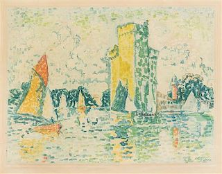 After Paul Signac, (French, 1863–1935), Le port de la rochelle by Jacques Villon, 1925