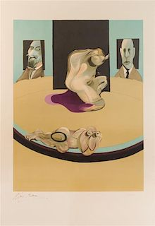 * Francis Bacon, (Irish, 1909-1992), Study of the Human Body (from the Metropolitan Triptych), 1975