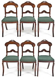 Set of 6 Early Rococo Revival Victorian Chairs