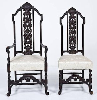 2 Jacobean Revival Chairs