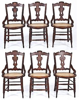 6 Victorian Eastlake/Renaissance Revival Chairs