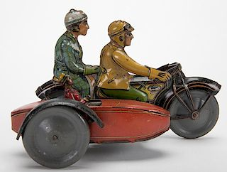 Antique Tin Litho Motorcycle