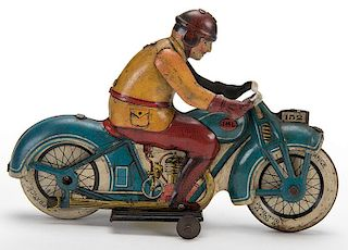 Blue French Motorcycle