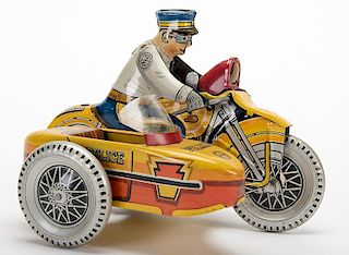 Police Motorcycle with Sidecar