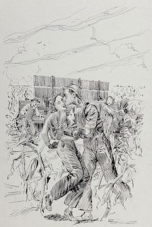 Portfolio of 24 Pen and Ink Literary Illustrations