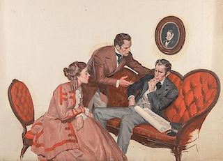 Nineteenth Century Couple Pleading their Case