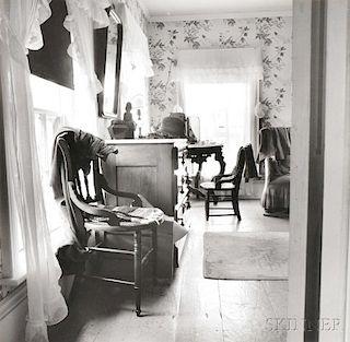 Walker Evans (American, 1903-1975)      A Bedroom in Newcastle, Maine