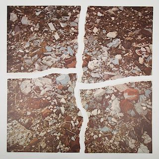 Robert Smithson (1938-1973) Torn Photographs from the Second Stop (Rubble) , Colored photographs.