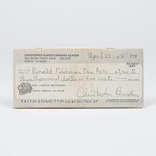 Chris Burden (1946-2015).  Full Financial Disclosure. Los Angeles, USA:  Jan Baum/Iris Silverman Gallery, 1977,
