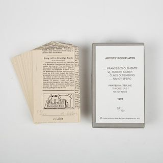 Robert Gober (b. 1954) Artist's Bookplates, 1991, Lithograph on wove paper, 250 pieces,
