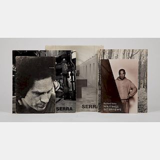 A Group of Four Books Pertaining to the Work of Richard Serra (b. 1939),