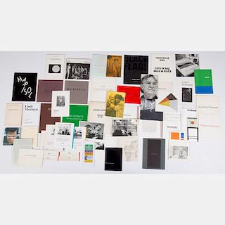 A Miscellaneous Collection of Exhibition Catalogs and Brochures for Single Artist Shows, 20th Century,