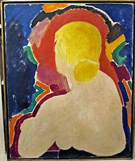 Ben Johnson nude painting mid-century modern