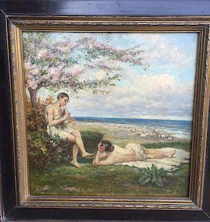 Arnold Bocklin (1827-1901) Symbolist Painting