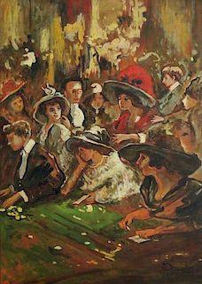 Antonio Piccinni (1846-1920) Italian Impressionist Casino