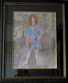 Raphael Soyer Illustration for Rare Book by Isaac Bashevis Singer