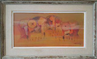 Romeo Tabuena (1921-2015) Philippines Modernist Painting