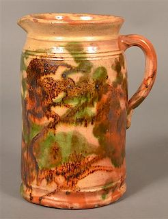 Redware Pitcher Attributed to J. Eberly & Co.