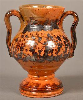 PA 19th Century Mottle Glazed Miniature Vase.