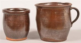 Two Pieces of Willoughby Smith  Redware.