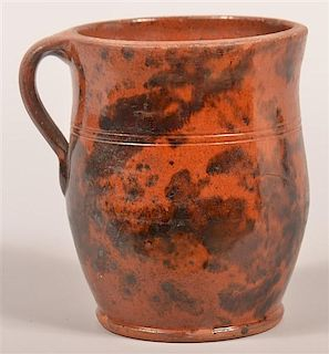 PA 19th Cent. Redware Apple Butter Crock.