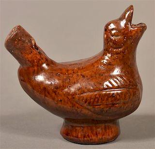 Antique New Jersey Redware Bird Whistle.