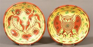 Two James Seagreaves Pottery Bowls.