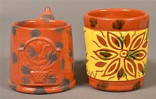 Two James Seagreaves Pottery Mugs.