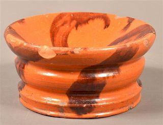Solomon Miller Brush Glazed Redware Cuspidor.