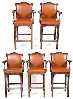 Set of 5 Century Pub Chairs