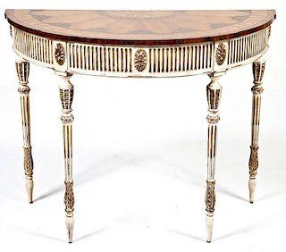 E.J. Victor Demilune Console Table