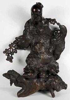 Well-Carved Driftwood Elder
