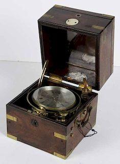 Brass and Glass Ship's Chronometer