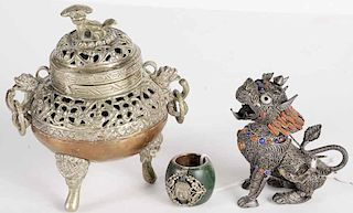 Archer's Ring, Foo Lion and a Censer