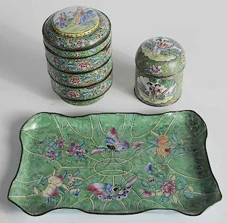 Three Pieces Chinese Cloisonné