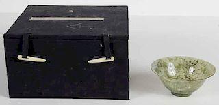 Green Hardstone Bowl