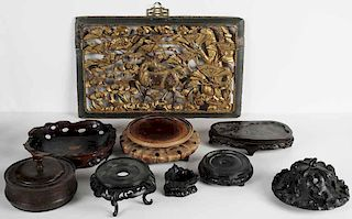 Carved Display Stands, Lid, Covered