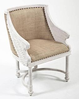 Contemporary Classically Inspired Armchair