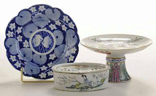 Three Pieces Asian Porcelain