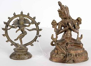 Two Asian Bronze Figures